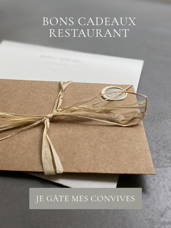 Bons cadeaux du restaurant CIBO